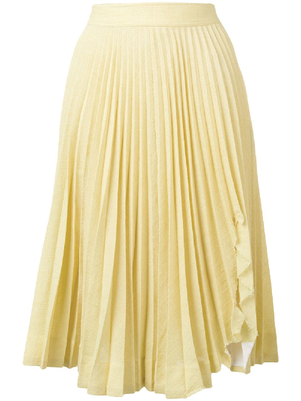 db0d15369 CALVIN KLEIN 205W39NYC. Calvin Klein 205W39Nyc Pleated Midi Skirt - Yellow
