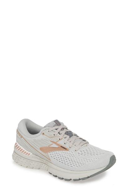 0fb30f38110ac Brooks Adrenaline Gts 19 Running Shoe In Grey  Copper  White