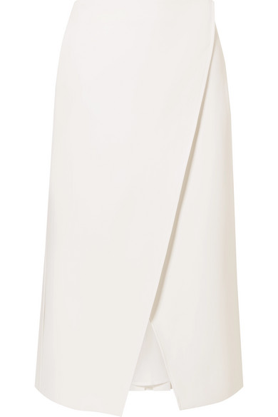 Beaufille Kari Pleated Reversible Midi Skirt In White