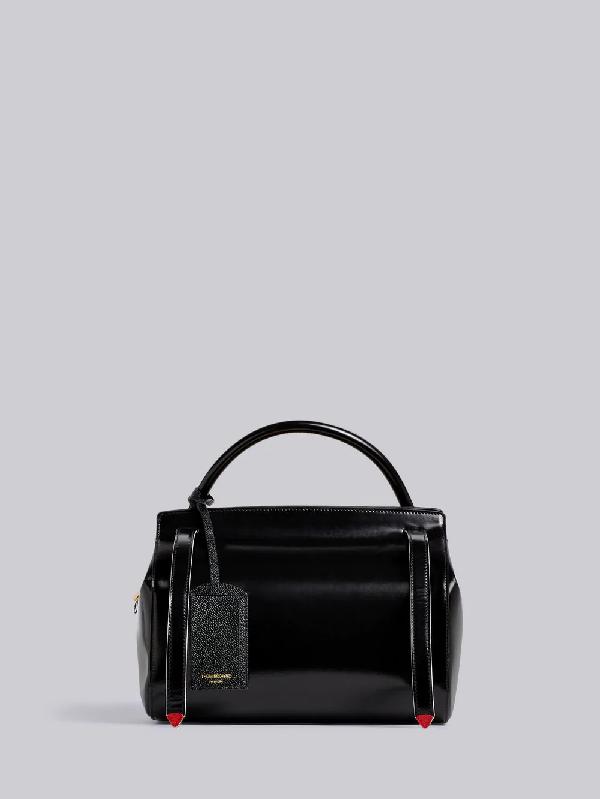 Thom Browne 3-Strap Large Shoulder Bag In Black