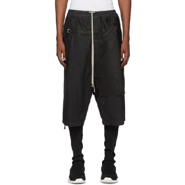 Rick Owens Drkshdw Black Combo Karloff Pods Shorts In Black 9909