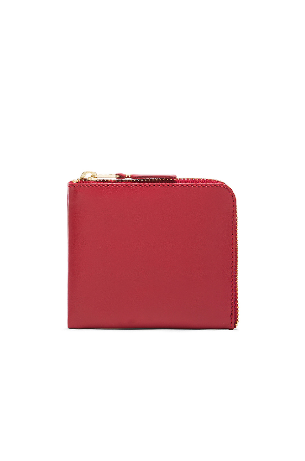 Comme Des GarÇOns Classic Small Zip Wallet In Red