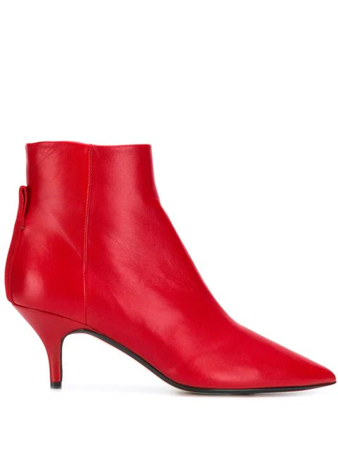 Joseph The Sioux Pointed Boots In Red