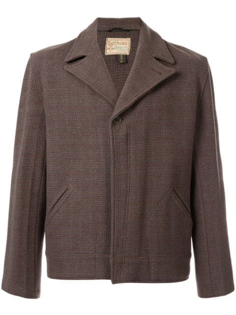 Pre-owned Fake Alpha Vintage Boxy Jacket In Brown