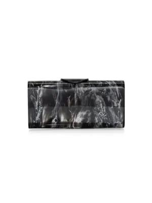 Edie Parker Large Lara Acrylic Clutch In Multi