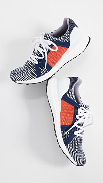 Adidas By Stella Mccartney Ultraboost Colorblock Knit Sneakers, Blue/Orange In Indigo Wht Granite