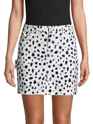 Atm Anthony Thomas Melillo Cheetah-print Mini Skirt In Pale Silver Combo In White Multi