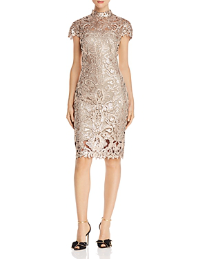 Sequined Cocktail Dress In Ginsengnatural