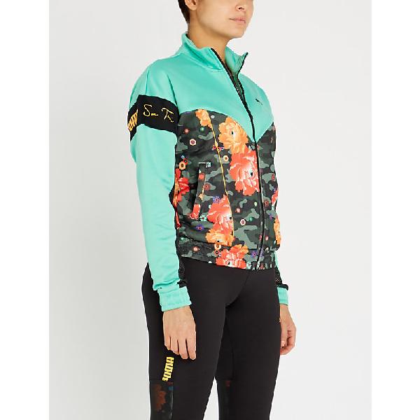 4ca2e8921 Puma X Sue Tsai Floral-Print Shell Track Jacket In Black Peony ...