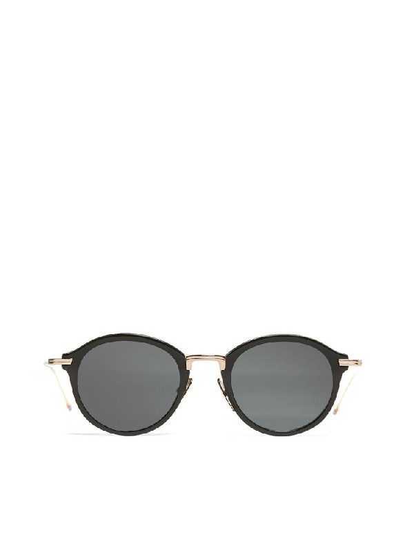 406ed90a491b Thom Browne Eyewear Round Sunglasses In Black | ModeSens