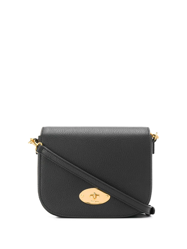 Mulberry Darley Small Leather Satchel Bag In Black