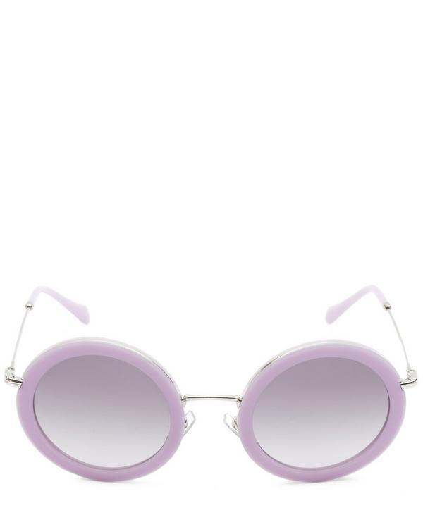 Miu Miu Oversized Round Sunglasses In Violet