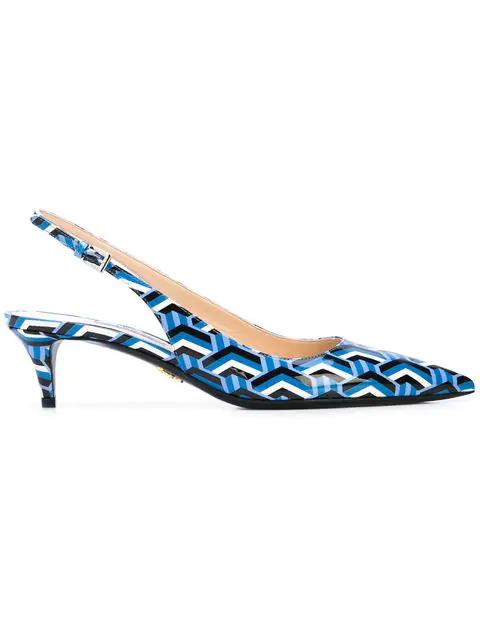 edfe2bcf0698d Prada Kitten Heel Pumps - Blue | ModeSens