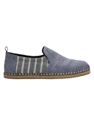 Toms Deconstructed Alpargata Canvas Sneakers In Navy