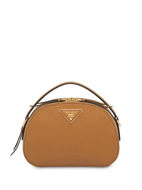 Prada Odette Leather Shoulder Bag - Caramel In Brown