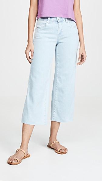 Blank Denim Cropped Wide Leg Jeans In Secret Weapon Wash