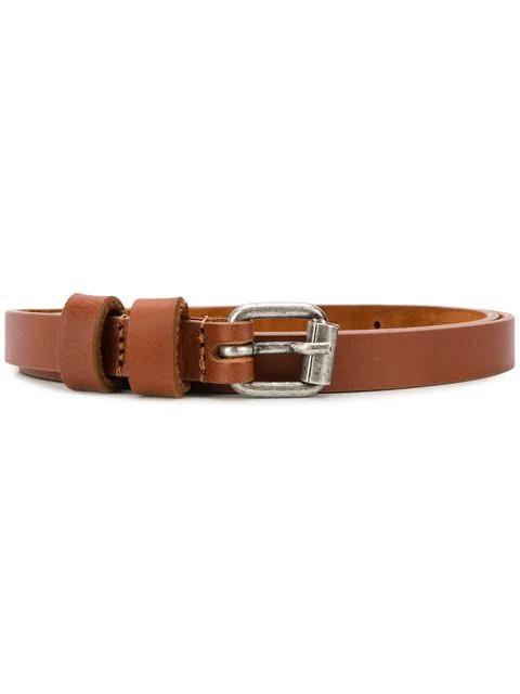 Aspesi Buckled Belt In Brown