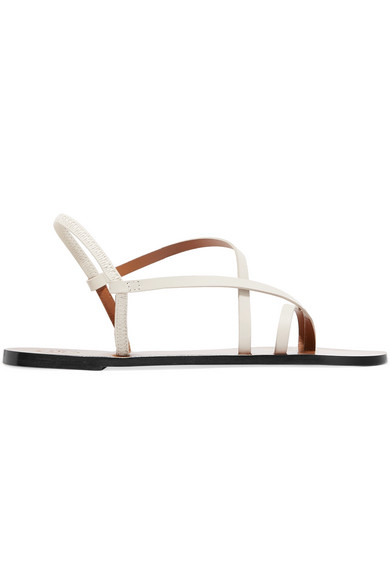 Atp Atelier Lizza Leather Sandals In White