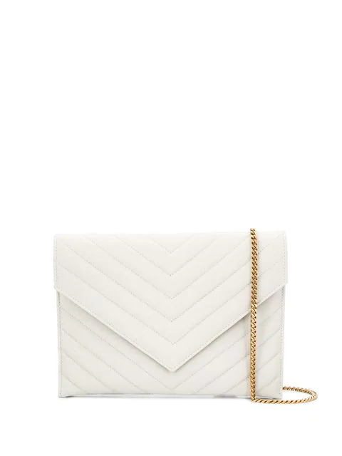 fdce7a97444 Saint Laurent Tribeca Chain Wallet - Farfetch In 9207 -Crema Soft ...