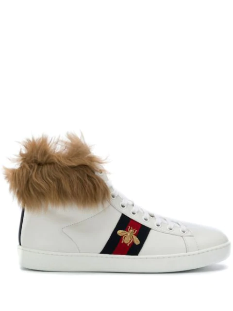 Gucci Ace High Top Sneakers - White