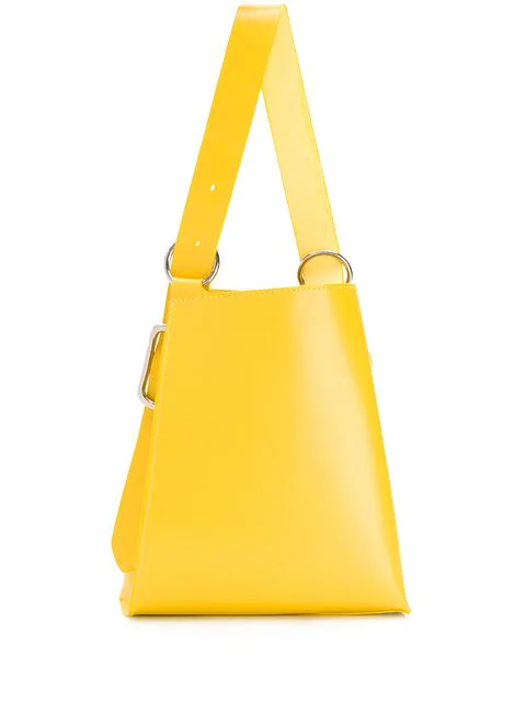 Venczel Taeo Leather Shoulder Bag In Yellow