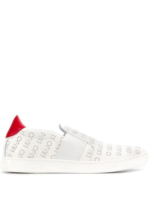 Liu •jo All-over Logo Sneakers In White