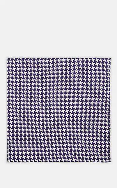 Fairfax Patchwork-Effect Silk Pocket Square - White