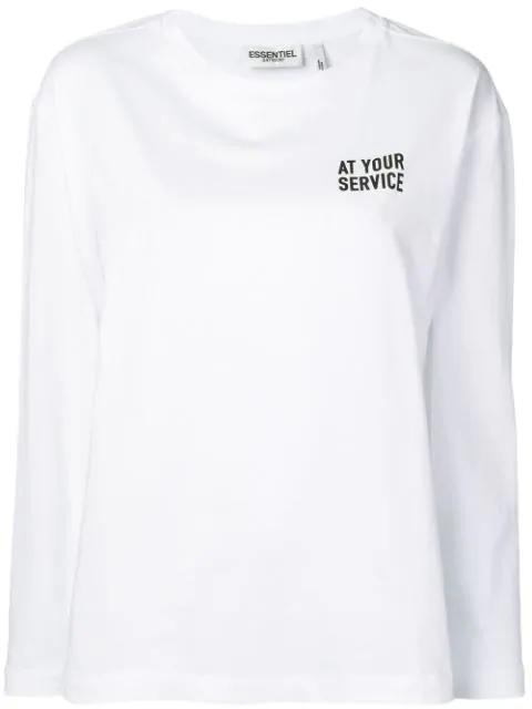 Essentiel Antwerp Pullover Mit Logo Silber In Silver Modesens
