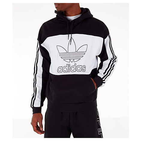 Adidas Originals Adidas Men's Originals Spirit Outline Hoodie In Black Size Large