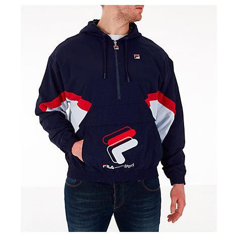 Fila Men's Resso Wind Jacket In Blue Size X-Large