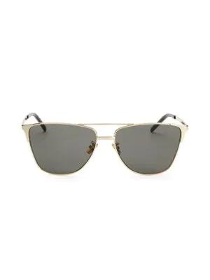 Saint Laurent 59Mm Aviator Sunglasses In Gold