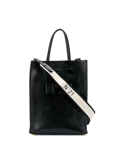 N°21 Nº21 Logo Shopper Bag - Black