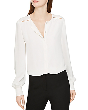 5079fa710 Reiss Noa Cutout-Detail Blouse In White