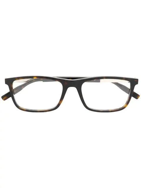 Montblanc Rectangular Shape Glasses In Brown