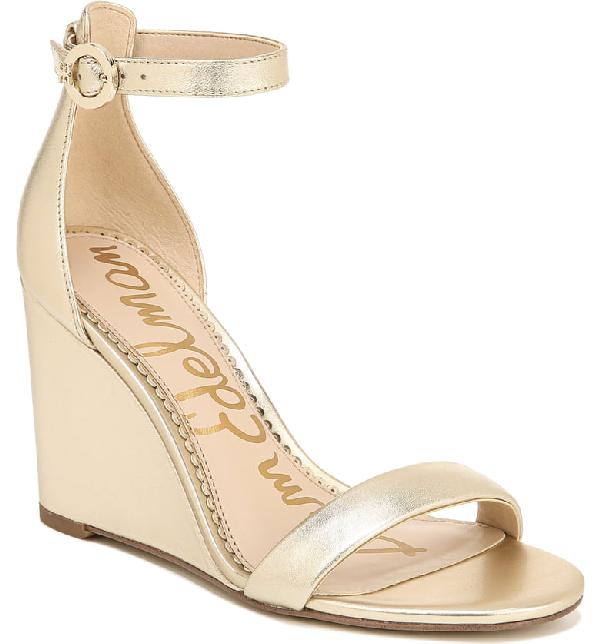 6dd00342981c Sam Edelman Women s Neesa Wedge Heel Sandals In Molten Gold