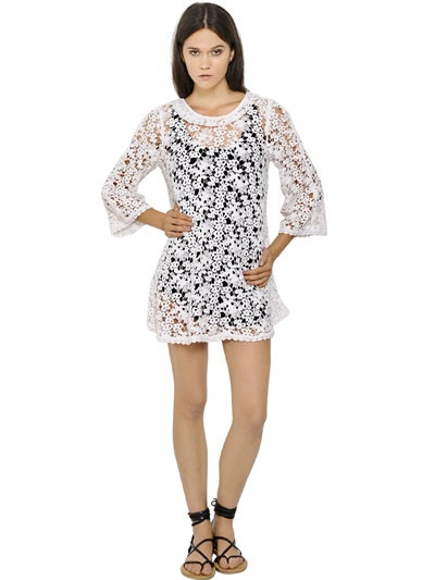 Isabel Marant Crocheted Cotton Guipure Lace Dress In White