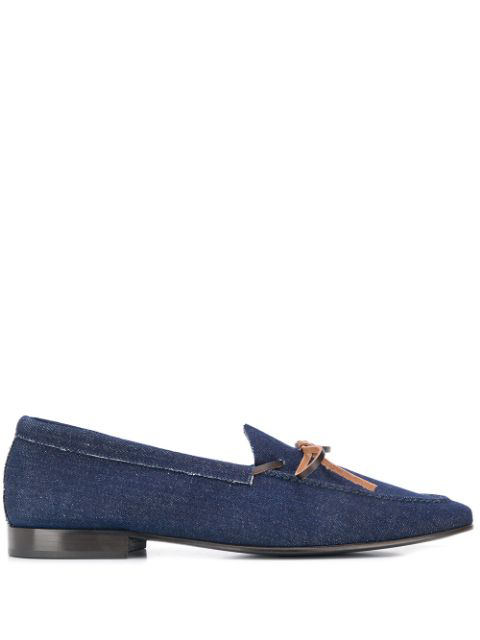 Leqarant Slip-on Denim Loafers In Blue
