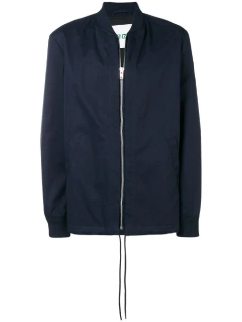 Kenzo Tiger Cotton Jacket In Blue