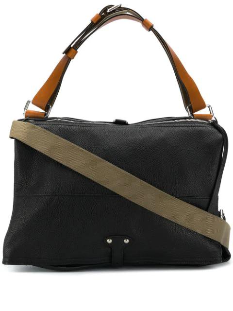 Maison Margiela Roll Top Shoulder Bag In Black