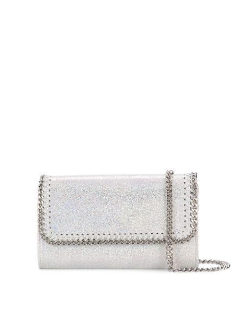 Stella Mccartney Falabella Clutch Bag In Silver