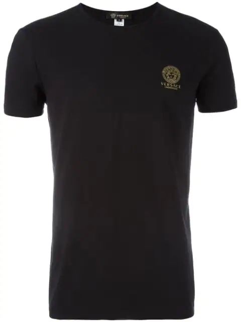 Versace Slim-Fit Logo-Print Stretch-Cotton Jersey T-Shirt In Black