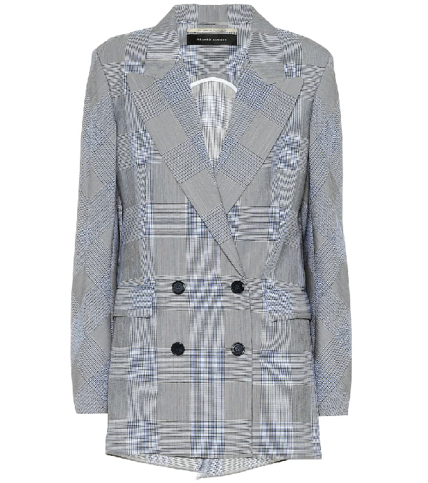 Roland Mouret Bourne Wool And Mohair Blazer In Blue