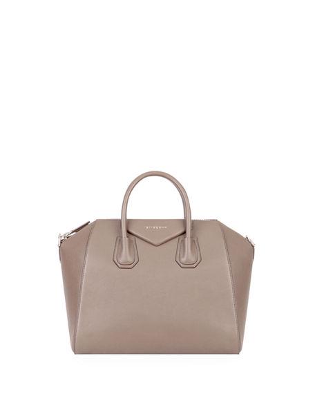 9d79255fdfe Givenchy Antigona Small Sugar Goatskin Satchel Bag In Medium Gray ...