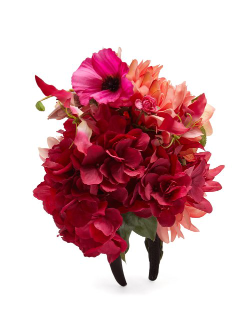 Philippa Craddock Spring Bouquet Faux-Flower Headband In Multi