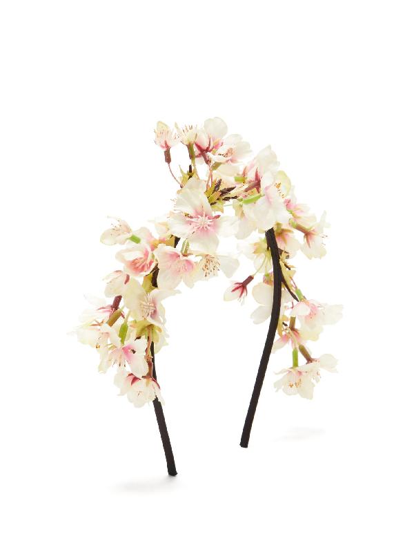 Philippa Craddock Blossom Faux-Flower Headband In Pink