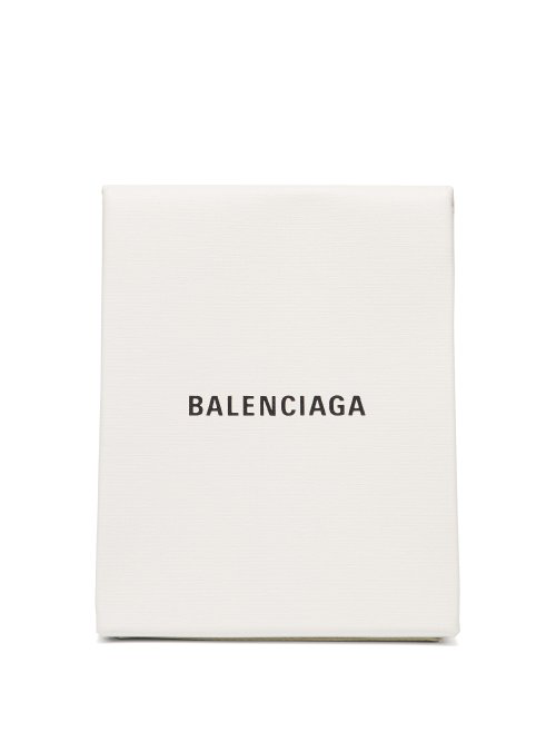 Balenciaga Shopping Leather Envelope Clutch In White