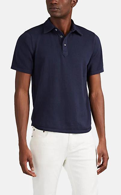 Piattelli Cotton Polo Shirt In Navy