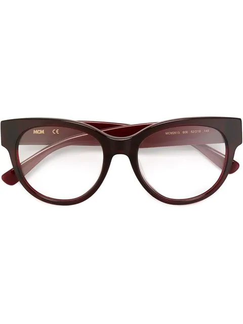 Mcm Round Frame Glasses In Red