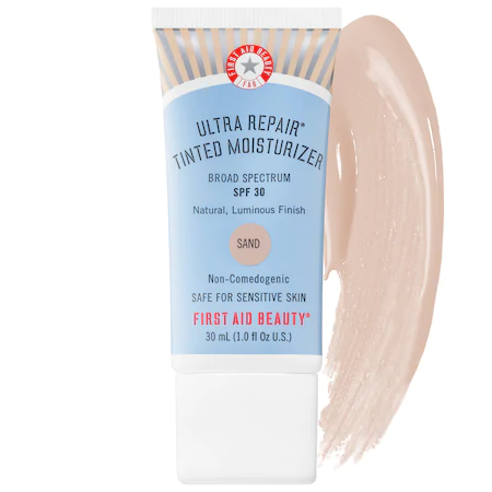 First Aid Beauty Ultra Repair® Tinted Moisturizer Broad Spectrum Spf 30 Sand - For Light To Light/medium Skin With Wa