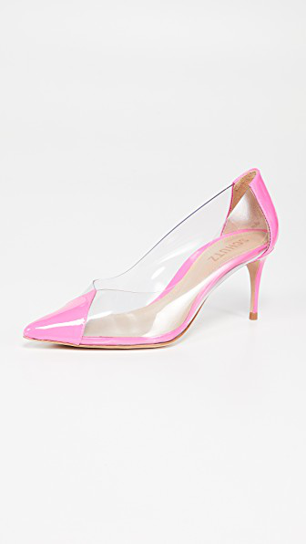 Garthy Vinyl Pumps in Neon Pink